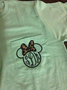 Women's Monogram Disney Minnie Mouse Pocket by UrbanSouthDesigns, $21.00animal kingdom