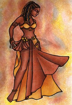 Nubian Sister Belly Dancer by LaceChenault.deviantart.com on @deviantART