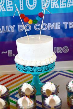Rainbow birthday cake - simple and sweet!