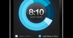This is a data visualization for a sleeping app. Nice use of the colors as well as a logical breakdown of your sleeping hours into types of sleep.