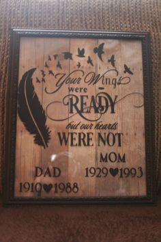 In Memory Of Dad, Pallet Crafts, Silhouette Cameo Projects, Drawing Challenge, Photo On Wood, Photo Canvas, Vinyl Projects, Mom And Dad, Woodworking Projects