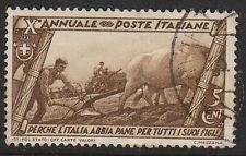 Stamp Italy SC 0290 1932 10th Anniversary Fascist Government March of Rome Used