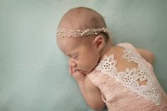 Newborn Lace Romper-- Newborn Outfit-- Newborn Photo Prop-- Baby Girl Romper
