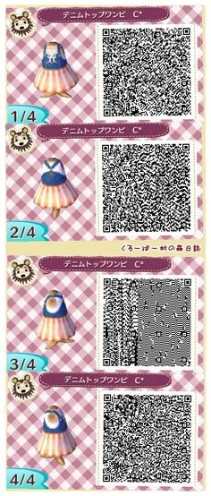 Animal Crossing: New Leaf - purple dress QR-code Qr Code Animal Crossing, Animal Crossing Qr Codes Clothes, Motif Acnl, Ac New Leaf, Happy Home Designer, Do It Yourself Furniture, Pattern Code, Kawaii, Animal Games