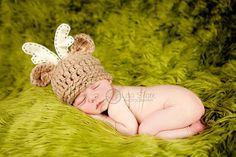 Baby Deer Hat  Newborn Photo Prop  Hunting Hat  Deer by bitOwhimsy, $38.00