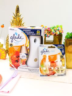 AD See how I'm bringing the scents of summer to my summer time brunches thanks to my @Glade Automatic Spray Starter Kit & Glade® PlugIns® Scented Oil products from Walmart #ontheblog ! #SurroundedbyGlade #Walmart