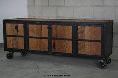 Credenza De Madera Rustica : Te dejo una idea para hacer mesa rustica con la base
