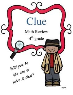 This s a fun way for your students to practice math for upcoming test. Students will work through math word problems. For each question they get right, they get a guess about who committed a murder, where it happened, and what weapon was used--- just like in the board game Clue!