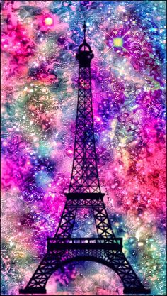 2016 Paris Eiffel Tower Galaxy Wallpaper