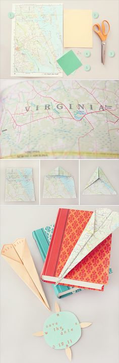 Paper Airplane with Directions