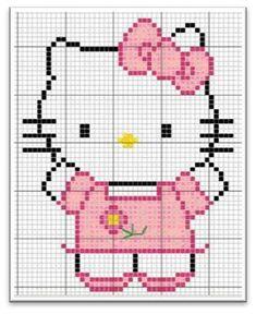 Boa noite pessoal .... De todos os desenhos fofos que eu já bordei .... Hello Kitty sempre é a mais pedida, os gráficos dela são sempre os ...