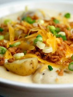 Loaded Baked Potato Soup - comfort food indeed!!  #sponsored