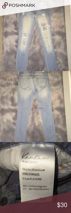 Size 24 distressed jeans, Brand from The Buckle. Size 24 (size 2/3)  jegging, slightly stretchy. Good condition. Only wore a few times then outgrew. Buckle Jeans Skinny