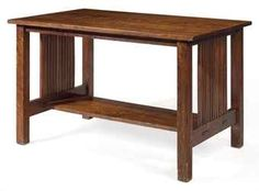 Gustav Stickley was famous for his Mission Style furniture. I love the through tenons on the lower rails on this piece.