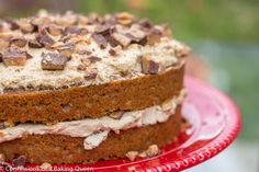 Coffee Heath Bar Crunch Cake is a coffee infused cake with coffee whipped cream, chopped Heath bars, more coffee cake and coffee buttercream topped w/ heath No Bake Desserts, Just Desserts, Delicious Desserts, Dessert Recipes, Yummy Food, All You Need Is, Yummy Treats, Sweet Treats, Goody Recipe