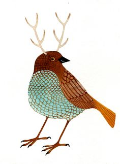 Print for the Office - Unique Birds (Birdalope by Geninne)