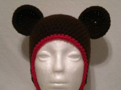 Crocheted mouse hat