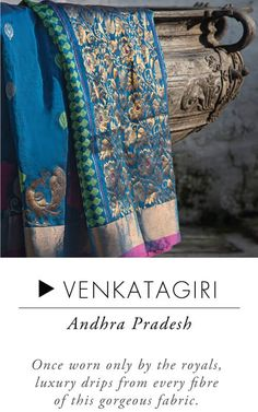 Venkatgiri - Handloom sarees are lifetime possessions.When it comes to everyday wear, take your pick from attractive cotton sarees like Mangalgiri, Sambalpuri or a Madurai. Simple yet elegant, these sarees are lightweight and comfortable. While Ilkal sarees are subtle, simple and delicately intricate, Kosa sarees depict stories from mythological and historical times. If u r looking to buy an iconic South Indian saree,Kerala Kasavu which is classy, graceful and simple is a great choice.