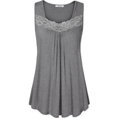 Business Casual Tops for Women, Youtalia Women's Casual Tops for... ($24) ❤ liked on Polyvore featuring tops, cotton camisole, lace cami top, green tank, lace camisole top and cami tank