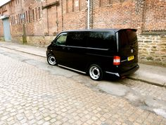 Nice black New recruit from the Northwest. - Page 11 - VW Forum - VW Forum Vw T1, Volkswagen, Vw T5 Interior, T4 Camper, Campers, Vw Conversions, Black Steel Wheels, Vw T5 Forum, Transporter Van