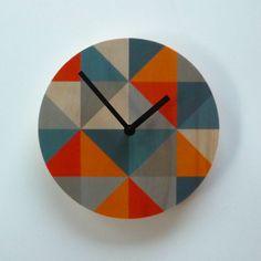 Objectify Grid  Grey/Orange Wall Clock by ObjectifyHomeware, $26.00