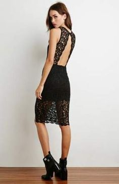 Buy Black Casual dress for woman at best price. Compare Dresses prices from online stores like Forever 21 - Wossel United States Casual Day Dresses, Nice Dresses, Clothes Encounters, Forever 21 Fashion, Types Of Dresses, Material Girls, Dress Skirt, Beautiful Dresses, Girl Fashion