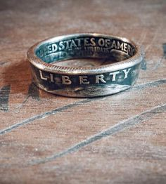 Custom Year Quarter Ring | These rings showcase quarters in a unique way — which is to say there are made from them.