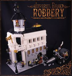 Awesome steampunk Lego scene by captainsmog, via Flickr; click through and check out the stream for more.