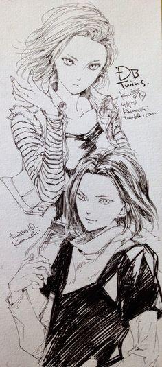 Dragon Ball Fan Art y Heroes 3 noviembre 2014 Androide 17 y 18