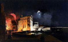 Ippolito Caffi(1809–1866)Nocturnal Celebrations in Via Eugenia at VeniceDate1840Mediumoil on canvasDimensionsHeight: 27 cm (10.6 in). Width: 44 cm (17.3 in).Current location  Galleria internazionale d'arte moderna (Venezia)