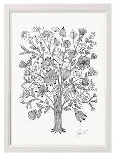 Flowery Bush II Print (A3) by Justin Landon
