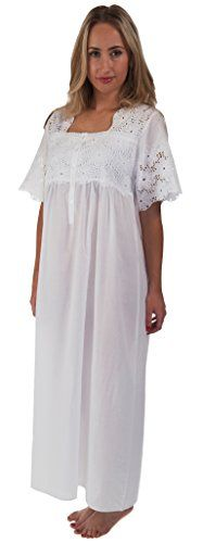 d7aa4351bd67 The 1 for U 100 Cotton Short Sleeve Ladies Nightdgown Elizabeth Large --  Click image for more details.
