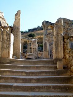 Walking through the ruins in Ephesus. It's a must-do if you're Mediterranean Cruise includes Turkey. There's so much history here but a guided tour is the best way to learn about it. And this is definitely worth adding to your travel bucket list.