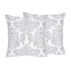 Sweet Jojo Designs Elizabeth Damask Cotton Throw Pillow