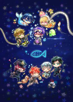 Free! ~ Future Fish (plastic folder back) by Evil-usagi on DeviantArt
