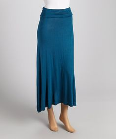 Take a look at this Teal Maxi Skirt by CANARI on #zulily today!