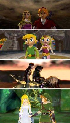 LINK AND ZELDA.