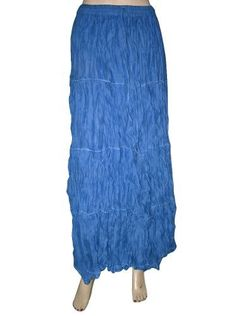Women's Tiered Maxi Skirt, Blue Long Skirt, Bohemian Skirt Mogul Interior, http://www.amazon.com/dp/B008N5QCGA/ref=cm_sw_r_pi_dp_xuPMqb1P16JNS