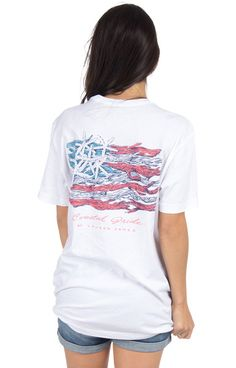 White - Coastal Pride - Short Sleeve Back
