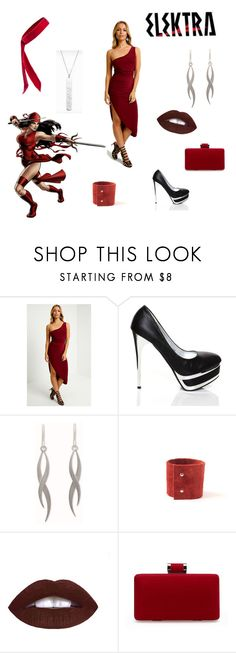 """""""Elektra inspired outfit!! <3 marvel fave"""" by kavitha-gn ❤ liked on Polyvore featuring NOVICA and L. Erickson"""