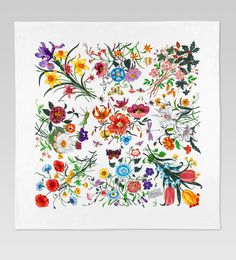 Gucci's Flora Scarf - A delight for the eyes. (Click for a lovely large version.)