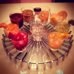 Party Idea: Offer an assortment of Crystal Head cocktails for your guests. #HostIdeas  Photography by iglesiasmichelle on Instagram
