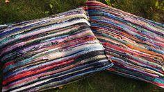 DIY Outdoor cushions (repurposed rugs!)