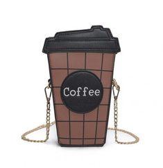 Women Personalized Coffee Cup Shape Shoulder Bag #Bags #Handbags #Wallets #WomensBags #WomenAccessories #Backpack #teknistore #freeshipping #Borse #Borsaperdonne #accessoridonna Plaid Purse, Tartan Plaid, Black Plaid, Chain Shoulder Bag, Shoulder Bags, Shoulder Strap, Cute Bags, Black Cross Body Bag, Leather Bag