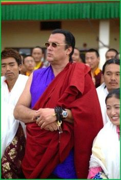 In today's world, more and more people proclaim to be Buddhist celebrities. Being Buddhist in Hollywood has its perks as it is an instant image booster. Steven Seagal, Steven Spielberg, Kendo, Aikido, Japanese Buddhism, Michigan, Ridley Scott, The Expendables, Martial Artist
