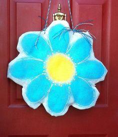 Personalized Burlap Door Hanger Spring / Summer