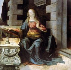 Leonardo, The Annunciation.