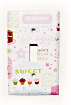 Cupcakes Kitchen Decoration Light Switch Cooking by Dressumups, $6.50