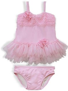 Ciao Bella Swimwear Light Pink Bathing Suits for Little Girls Little Girls Clothes