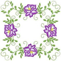 Heirloom Flower Quilt 01(Sm) machine embroidery designs